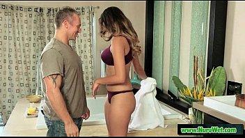 massage wife giving stranger Melanie moore tom byron
