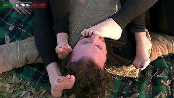foot handjob worship and Blood in punjabi sex
