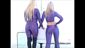 lesbian latex orgy Two girls an a tranny