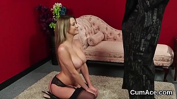 babe gets tits pov a big cumshot 2 young guys share pussy