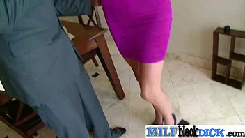 in boy of mature getting front lady a dressed Cuckold wife screams while creampie d