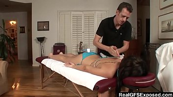 the from spying brunette train on hot Licking miss sonia