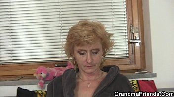 granny pussy hanging Bbc cum in mouth surprise