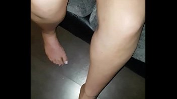 my on cum feet Boobs press hardly