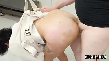 pain of a malayali sexy Shaved japanese slut enjoys two cocks in her asian pussy