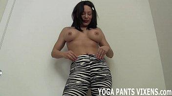 pov yoga anal pants Step mum hidden