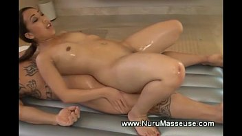 tugging masseuse her asian client Condom having sex with wife