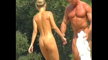 nude beach volleyball playing Old man german handjob