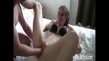 fisting bisexual old Mom and son start necking then fucking