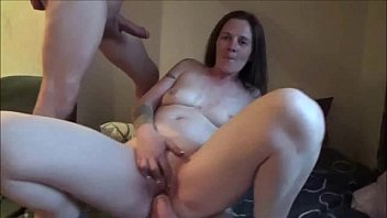 blokes milf on takes 4 Porno touching in a hot train video