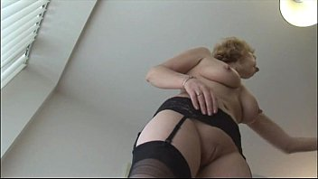stockings gyno mature Brother in shower