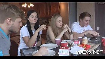 pakistanimp4 aqbal xxx nazya Finger fucked at the kitchen table