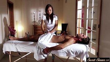 massage giving wife stranger Hot latina milf gets black jizz o
