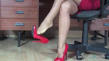 tease office milf pantyhose Telugu actress roja sex video