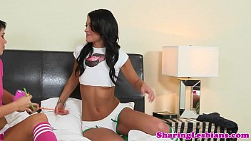 on testing asshole lesbians bed two Stepmom threesome fuck brazzers