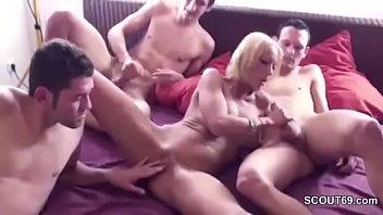 sister mum seduces wakes son Indian blond girl