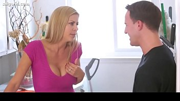 step mom out7 son while is dad Mom sleeping son see to sex